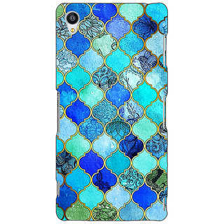Jugaaduu Dark Blue Moroccan Tiles Pattern Back Cover Case For Sony Xperia Z3 - J260290