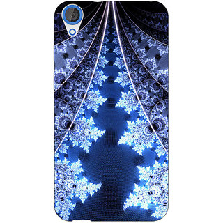 Jugaaduu Abstract Snow Flake Pattern Back Cover Case For HTC Desire 820 - J281503