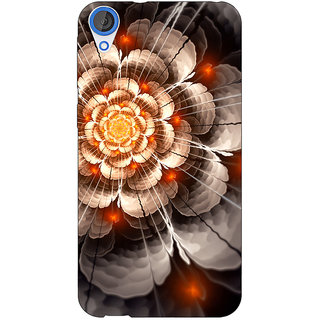 Jugaaduu Abstract Flower Pattern Back Cover Case For HTC Desire 820 - J281507