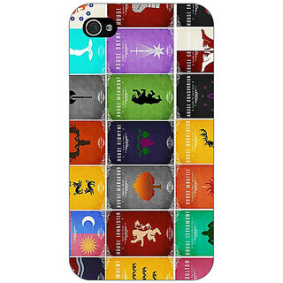 Jugaaduu Game Of Thrones GOT  Back Cover Case For Apple iPhone 4 - J10116