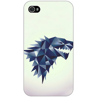 Jugaaduu Game Of Thrones GOT House Stark  Back Cover Case For Apple iPhone 4 - J10129