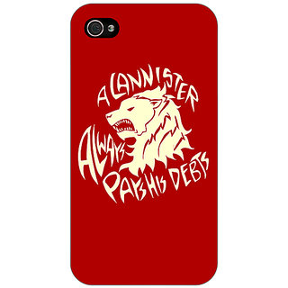 Jugaaduu Game Of Thrones GOT House Lannister  Back Cover Case For Apple iPhone 4 - J10156