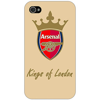 Jugaaduu Arsenal Back Cover Case For Apple iPhone 4 - J10503
