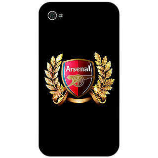 Jugaaduu Arsenal Back Cover Case For Apple iPhone 4 - J10504
