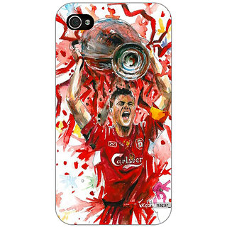 Jugaaduu Liverpool Gerrard Back Cover Case For Apple iPhone 4 - J10550