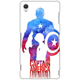 Jugaaduu Superheroes Captain America Back Cover Case For Sony Xperia Z3 - J260332