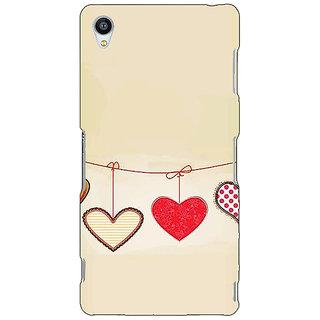 Jugaaduu Hearts Back Cover Case For Sony Xperia Z3 - J261406