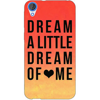 Jugaaduu Dream Love Back Cover Case For HTC Desire 820 - J280093
