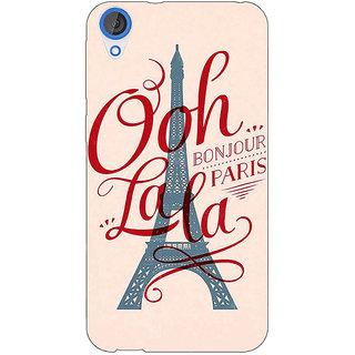 Jugaaduu Quotes Paris Back Cover Case For HTC Desire 820 - J281166