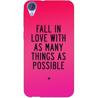 Jugaaduu Quotes Love Back Cover Case For HTC Desire 820 - J281169