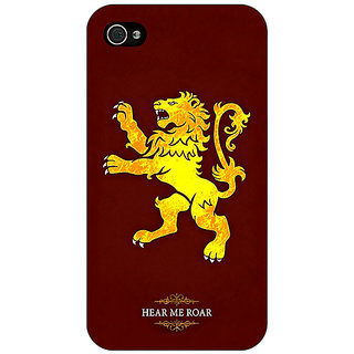 Jugaaduu Game Of Thrones GOT House Lannister  Back Cover Case For Apple iPhone 4 - J10162