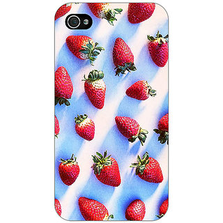 Jugaaduu StrawberryPattern Back Cover Case For Apple iPhone 4 - J10202