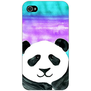 Jugaaduu Panda Pattern Back Cover Case For Apple iPhone 4 - J10206
