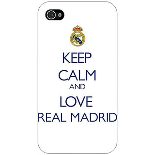 Jugaaduu Real Madrid Back Cover Case For Apple iPhone 4 - J10600