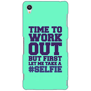 Jugaaduu Selfie Quote Back Cover Case For Sony Xperia Z3 - J261499
