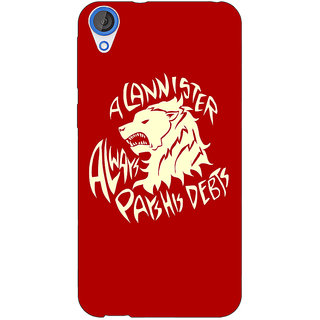 Jugaaduu Game Of Thrones GOT House Lannister  Back Cover Case For HTC Desire 820 - J280156
