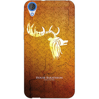 Jugaaduu Game Of Thrones GOT House Baratheon  Back Cover Case For HTC Desire 820 - J280171