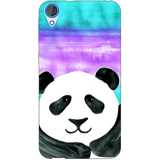Jugaaduu Panda Pattern Back Cover Case For HTC Desire 820 - J280206