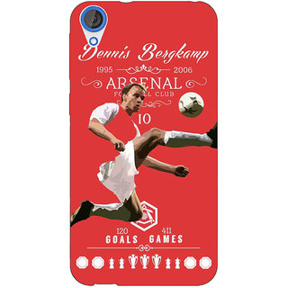 Jugaaduu Arsenal Dennis Bergkamp Back Cover Case For HTC Desire 820 - J280501