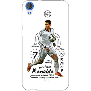 Jugaaduu Real Madrid Ronaldo Back Cover Case For HTC Desire 820 - J280586
