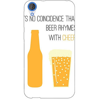 Jugaaduu Beer Quote Back Cover Case For HTC Desire 820 - J281204
