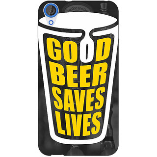 Jugaaduu Beer Quote Back Cover Case For HTC Desire 820 - J281250