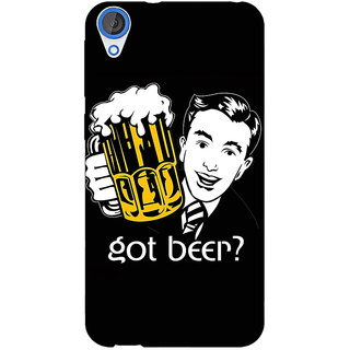 Jugaaduu Beer Quote Back Cover Case For HTC Desire 820 - J281251