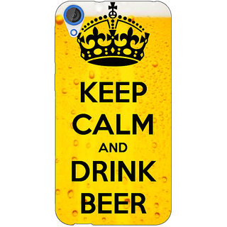 Jugaaduu Beer Quote Back Cover Case For HTC Desire 820 - J281258