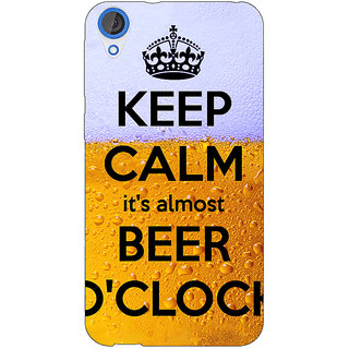 Jugaaduu Beer Quote Back Cover Case For HTC Desire 820 - J281259