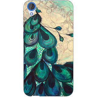 Jugaaduu Paisley Beautiful Peacock Back Cover Case For HTC Desire 820 - J281585