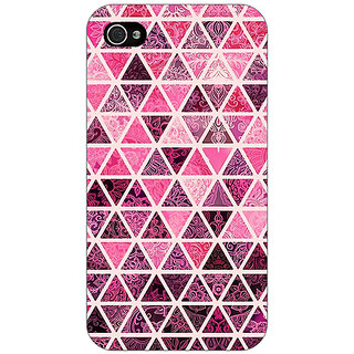 Jugaaduu Red Triangles Pattern Back Cover Case For Apple iPhone 4 - J10266