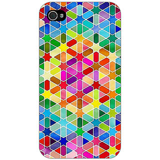 Jugaaduu Hexagon Star Pattern Back Cover Case For Apple iPhone 4 - J10280