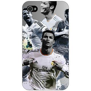 Jugaaduu Cristiano Ronaldo Real Madrid Back Cover Case For Apple iPhone 4 - J10307
