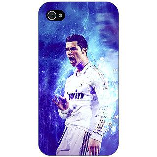 Jugaaduu Cristiano Ronaldo Real Madrid Back Cover Case For Apple iPhone 4 - J10308