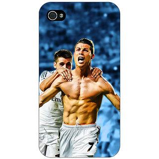 Jugaaduu Cristiano Ronaldo Real Madrid Back Cover Case For Apple iPhone 4 - J10314