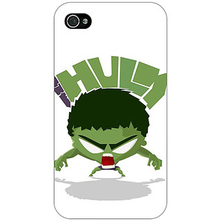 Jugaaduu Superheroes Hulk Back Cover Case For Apple iPhone 4 - J10323