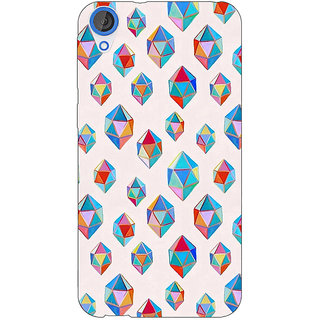 Jugaaduu Diamonds of Dreams Pattern Back Cover Case For HTC Desire 820 - J280251
