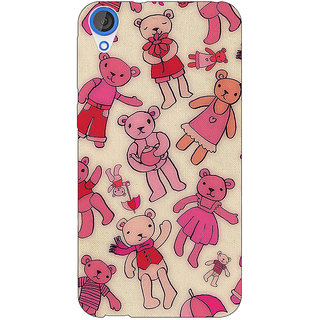 Jugaaduu Teddy Pattern Back Cover Case For HTC Desire 820 - J280263