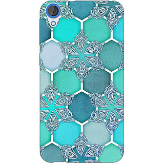 Jugaaduu Floral Hexagons Pattern Back Cover Case For HTC Desire 820 - J280281