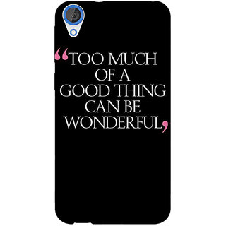 Jugaaduu Quote Back Cover Case For HTC Desire 820 - J281292