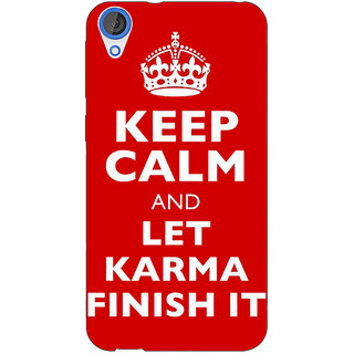 Jugaaduu Karma Quote Back Cover Case For HTC Desire 820 - J281321