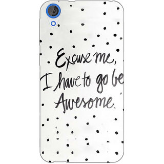 Jugaaduu Quote Back Cover Case For HTC Desire 820 - J281351