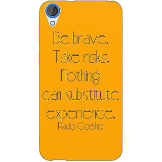 Jugaaduu Quote Back Cover Case For HTC Desire 820 - J281354