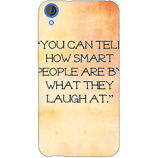 Jugaaduu Quote Back Cover Case For HTC Desire 820 - J281357