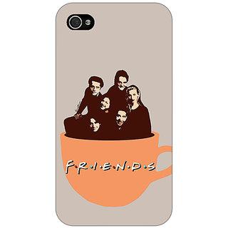 Jugaaduu TV Series FRIENDS Back Cover Case For Apple iPhone 4 - J10343