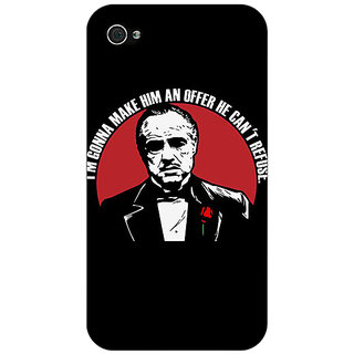 Jugaaduu The Godfather Back Cover Case For Apple iPhone 4 - J10349