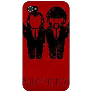 Jugaaduu Pulp Fiction Back Cover Case For Apple iPhone 4 - J10353