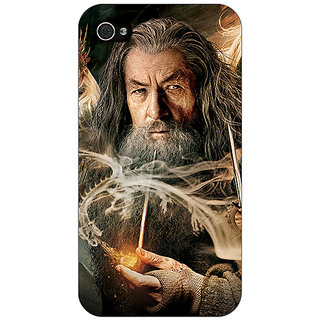 Jugaaduu LOTR Hobbit Gandalf Back Cover Case For Apple iPhone 4 - J10358
