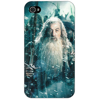 Jugaaduu LOTR Hobbit Gandalf Back Cover Case For Apple iPhone 4 - J10363