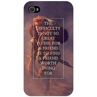 Jugaaduu LOTR Hobbit  Back Cover Case For Apple iPhone 4 - J10367